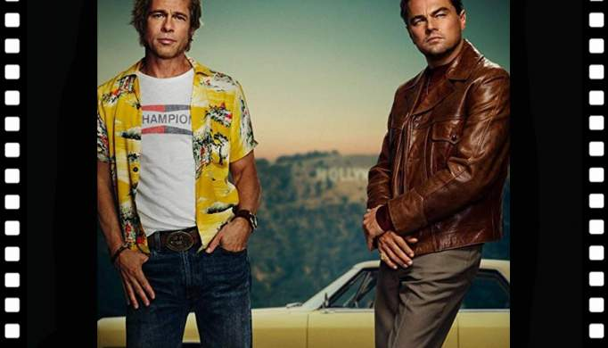 Leonardo diCaprio e Brad Pitt em Chaves, este fim de semana, com «Once upon a time in Hollywood»