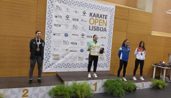 KCAT arrecada Prata no Karate Open de Lisboa